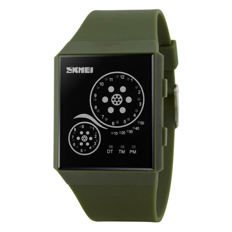 Đồng hồ điện tử Led Skmei Unisex cuộn phim siêu mỏng