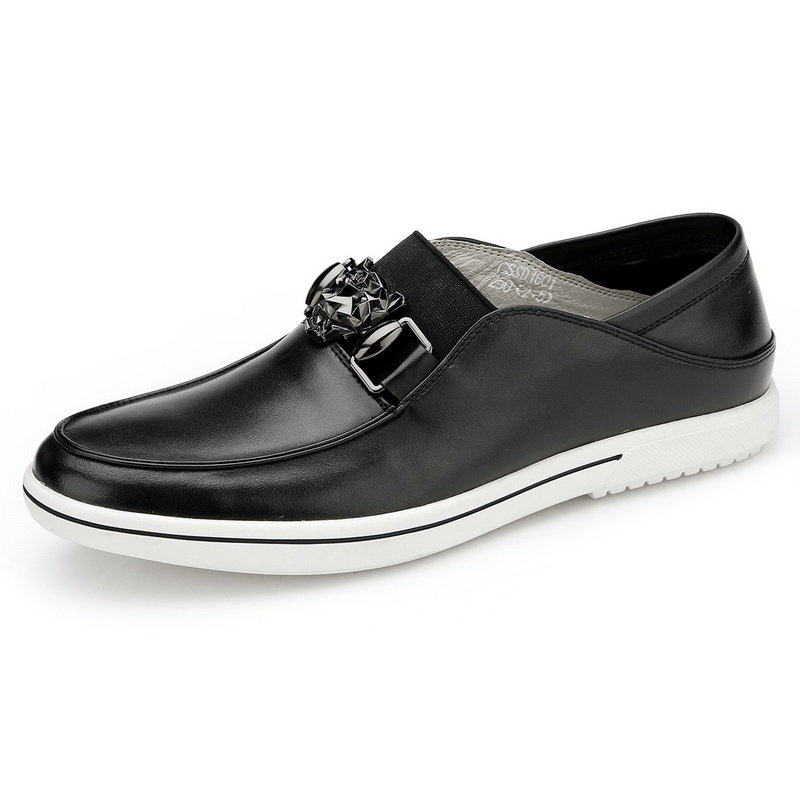 Giày mọi nam móc kim loại đầu thú Olunpo