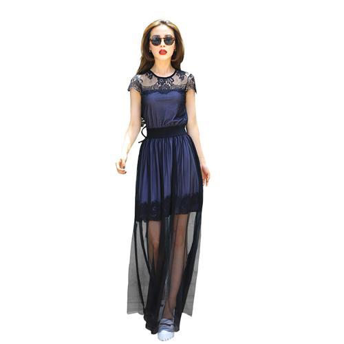 Váy nữ maxi ren họa tiết JM