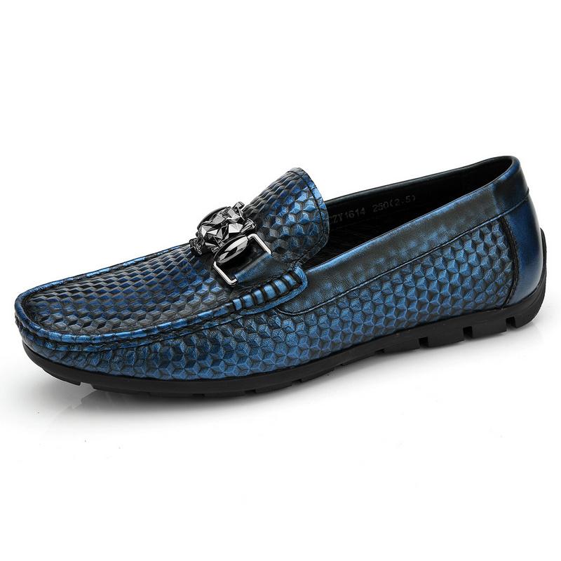 Giày lười ánh nhũ móc kim loại Olunpo