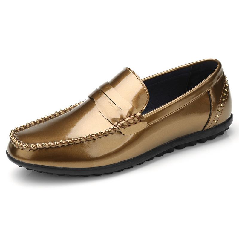 Giày mọi nam công sở đính hạt Olunp