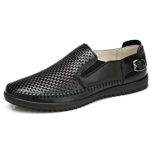 Giày da nam đục lỗ phong cách casual Olunpo XFR1501