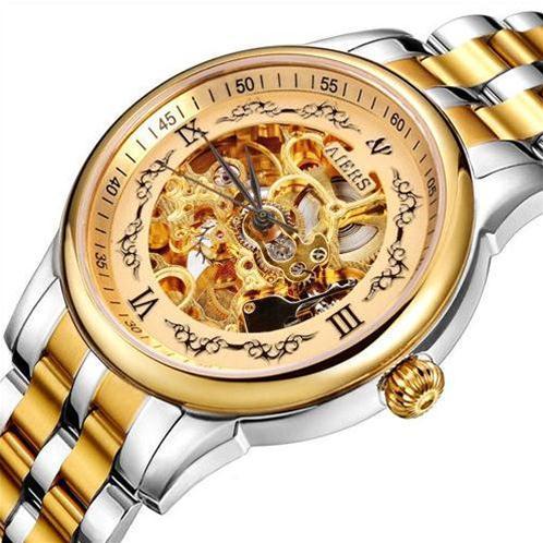 Đồng hồ nam Aiers B125G chạm rỗng hai mặt