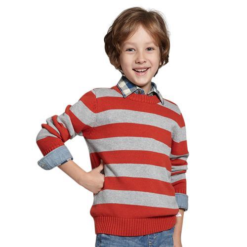 Áo len phối màu kẻ ngang cho bé trai Tiger Mini