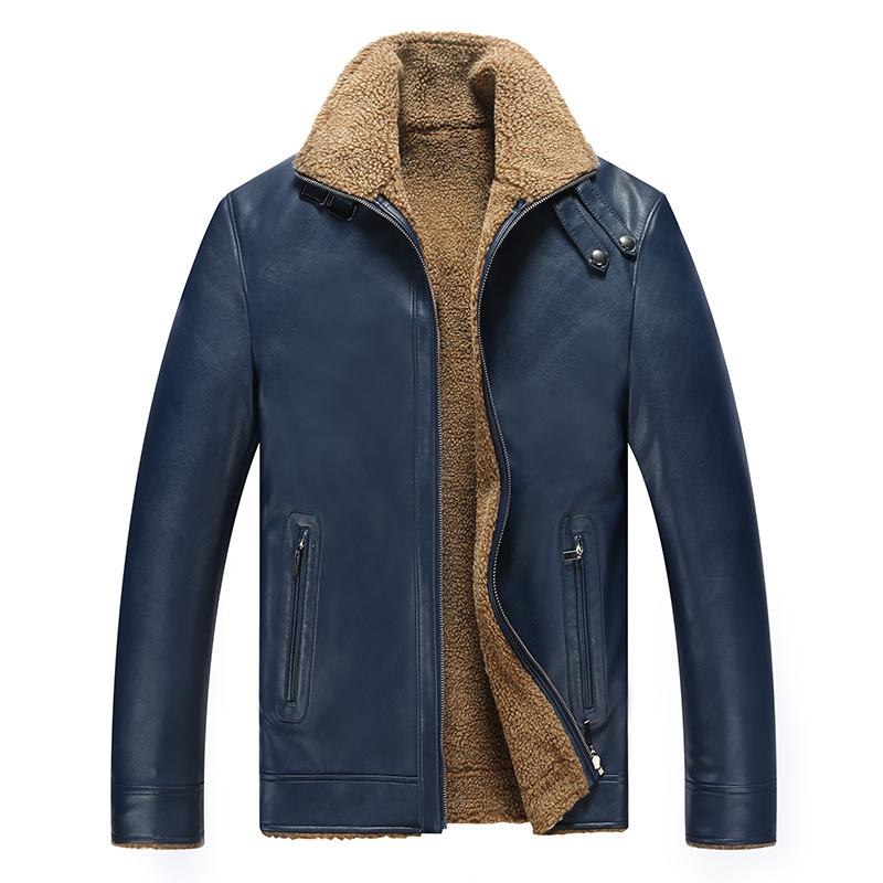 Áo Jacket da nam cổ bẻ lót lông nỉ HXDSL