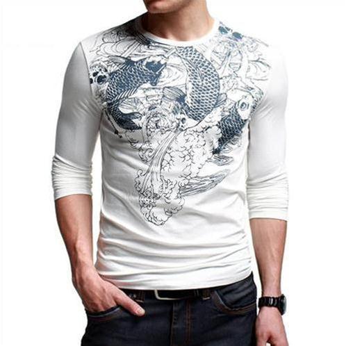 Áo T-shirt nam K-Jeans họa tiết cá chép