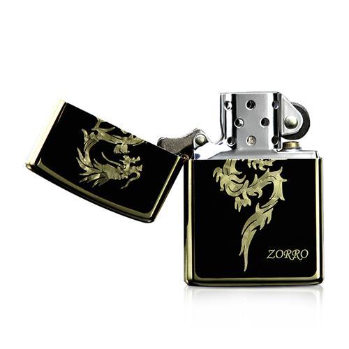 Bật lửa họa tiết rồng vàng Zorro Z8307b