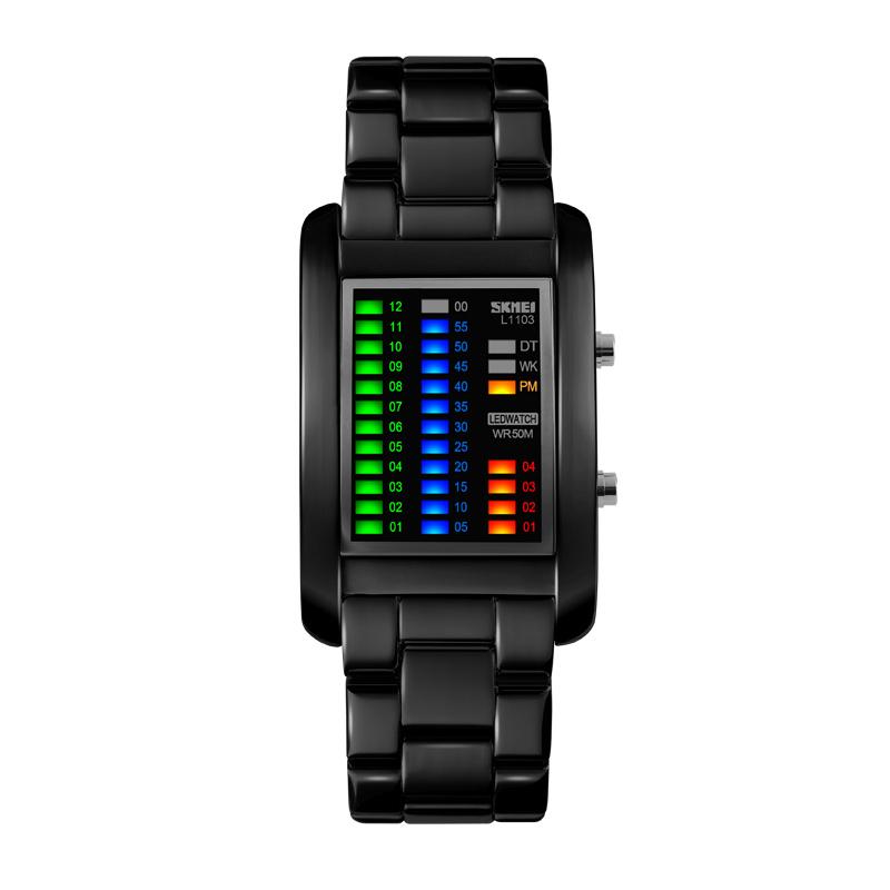 Đồng hồ điện tử nam Skmei cột giờ thông minh