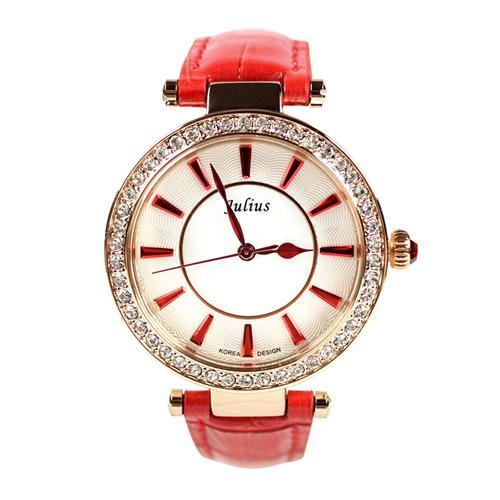 Đồng hồ nữ Julius _korea JA-797 viền nạm đá