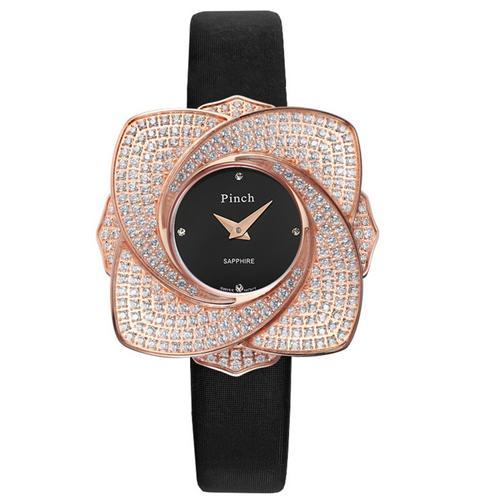 Đồng hồ nữ mặt hoa đính pha lê Pinch L9512-P04