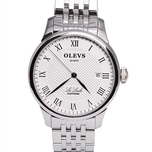 Đồng hồ nam Olevs Romantic L41 (Trắng dây kim loại (N3))-OV0003-4