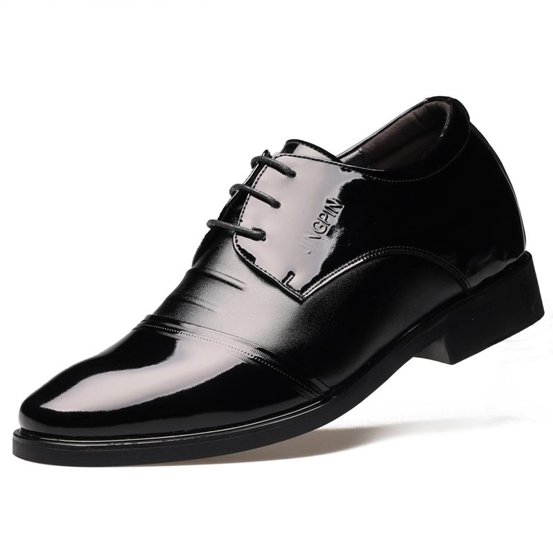Giày tây nam da bóng tăng chiều cao Bubunai (5cm)