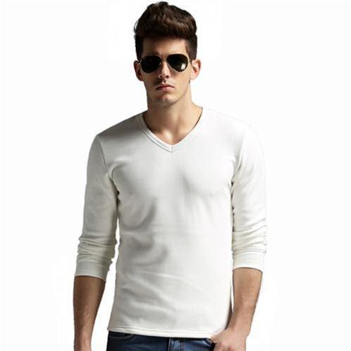 Áo T–shirt nam dài tay cổ chữ V No1Dara