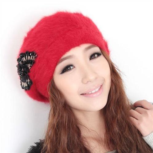 Mũ len nữ Dorain B036 Nơ xinh - Mũ Hàn Quốc đẹp