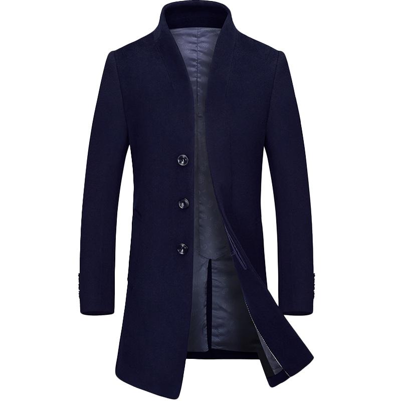 Áo khoác dạ lông cừu dáng dài cổ đứng KSLPT