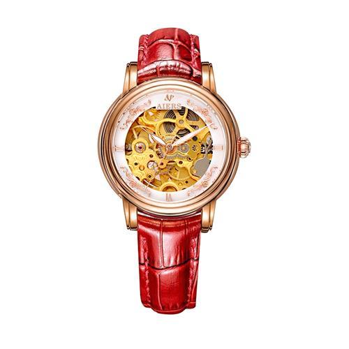 Đồng hồ cơ  nữ Aiers B202L chạm rỗng