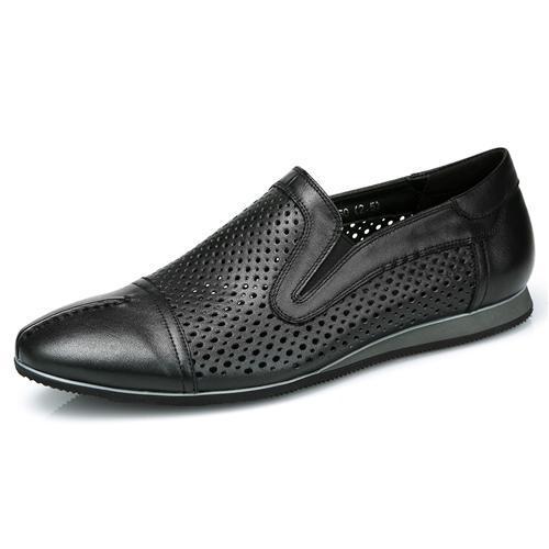 Giày lười nam viền đục lỗ mũi nhọn Olunpo XZY1504
