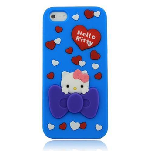 Vỏ Iphone 5 Hello Kitty (Xanh (N1))-IP00235-1