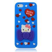 Vỏ Iphone 5 Hello Kitty (Xanh (N1))-IP00235-1
