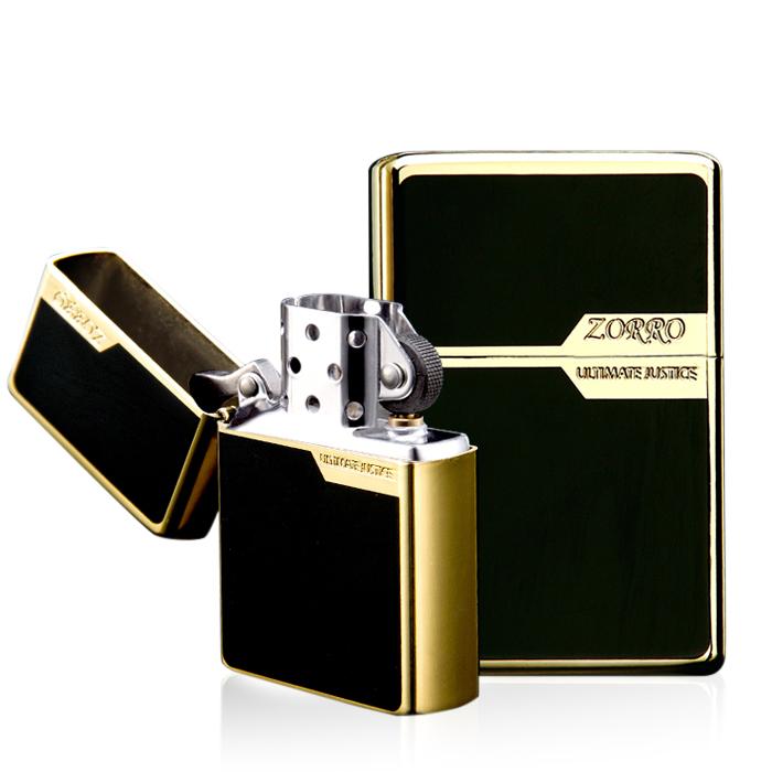 Bật lửa mạ vàng Zorro Z6007
