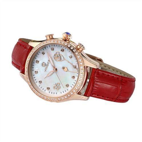Đồng hồ nữ Vinoce V6276L dây da đính đá cao cấp