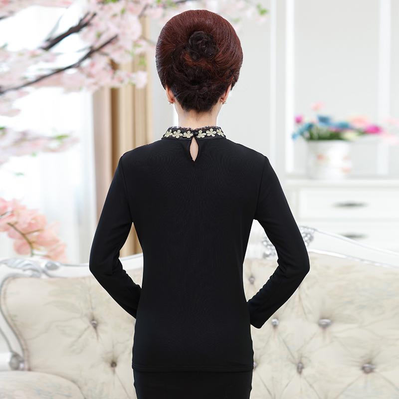 Áo kiểu nữ dài tay lót bông cổ thêu hoa SMT