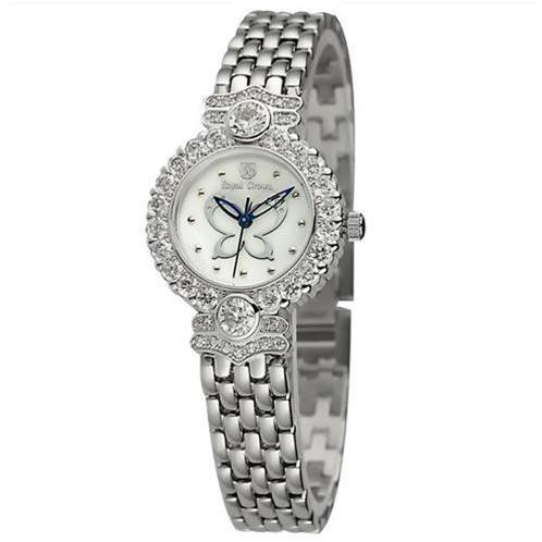 Đồng hồ nữ mặt tròn gắn đá  Royal Crown cao cấp