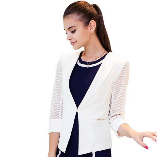 Áo Blazer phong cách Hàn Quốc tay lưới Xing-Y