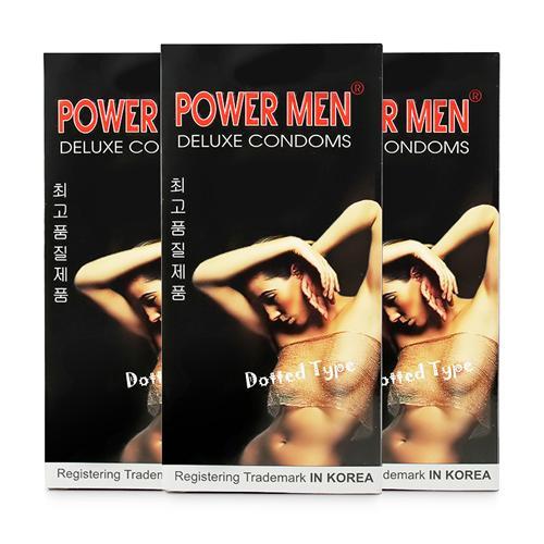 Combo 3 hộp bao cao su chấm bi Powermen Dotted