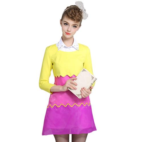 Váy Mod Dress Color Block Bessie