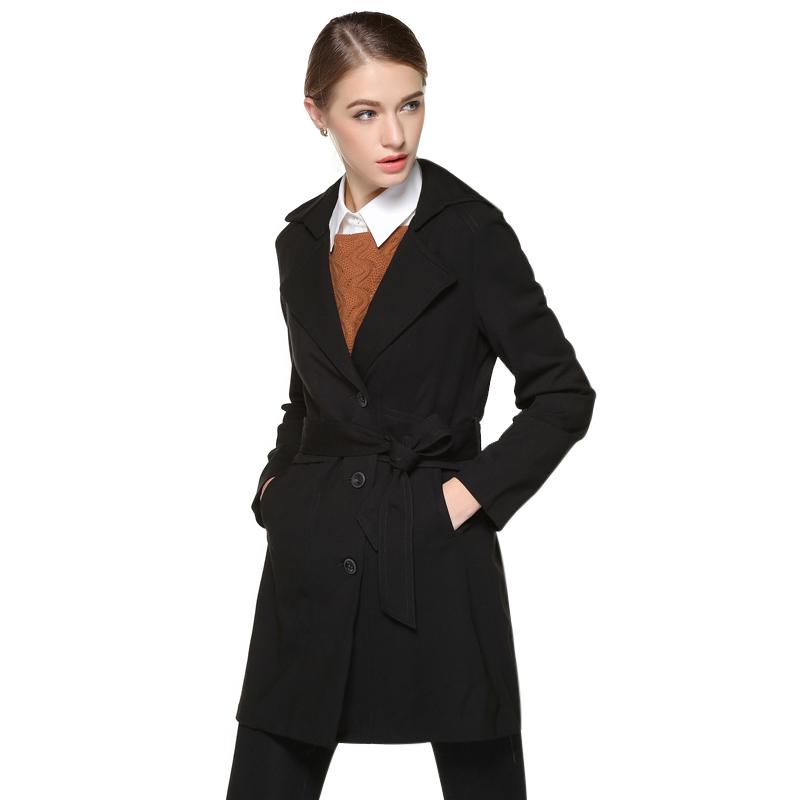 Áo khoác trend coat nữ thắt đai eo Mymo
