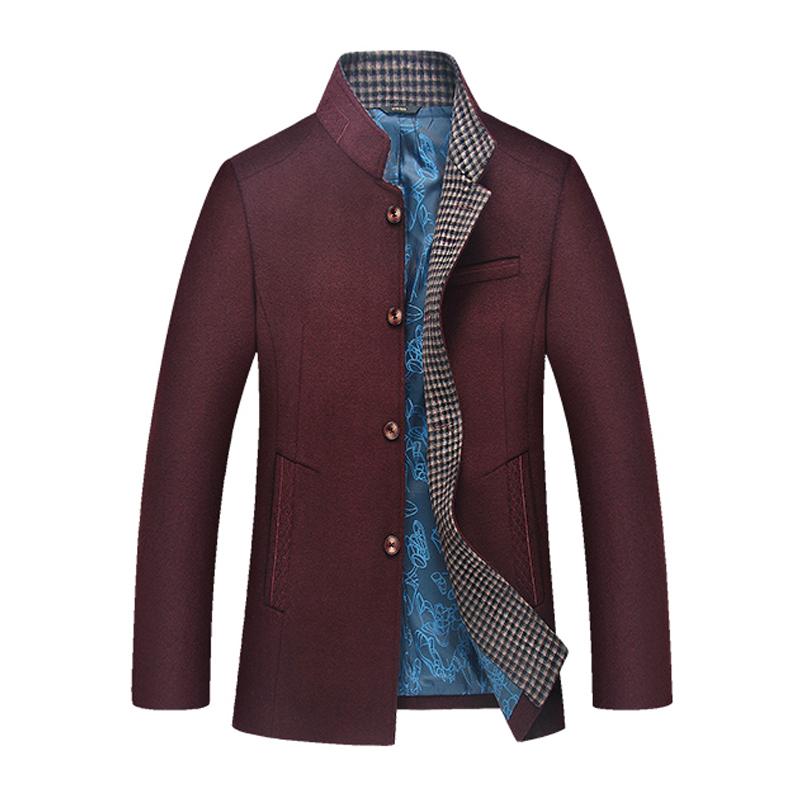 Áo Jacket nam dạ lông cừu cổ đứng Kadapo
