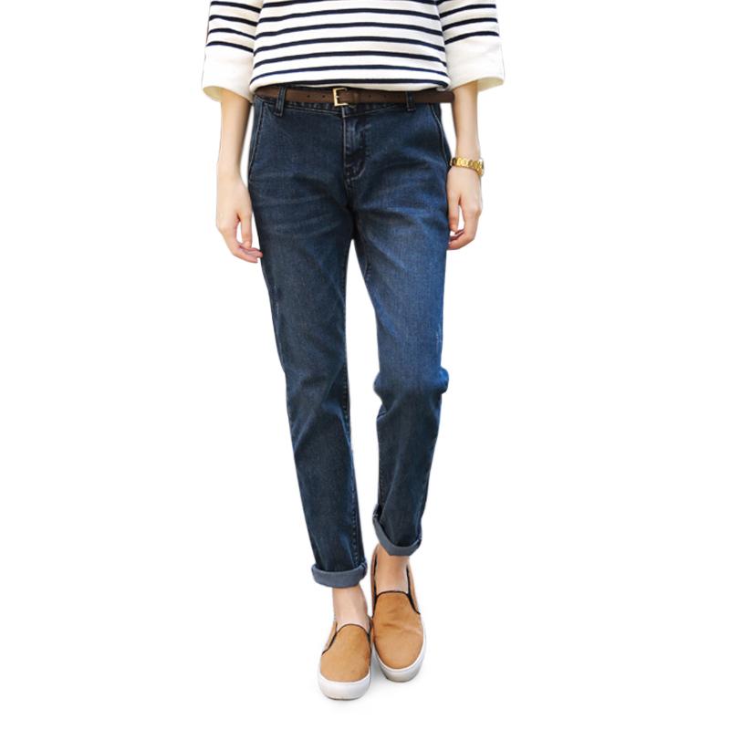 Jeans boyfriend xắn gấu Goditkiss