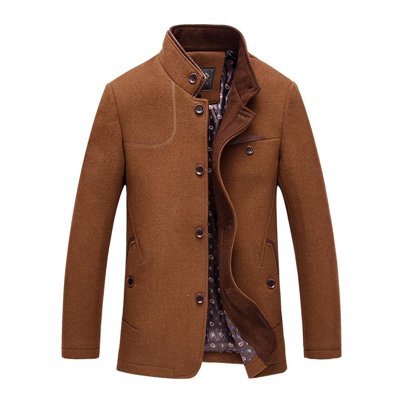Áo jacket nam dạ lông cừu Kadapo cổ đứng khuy cúc