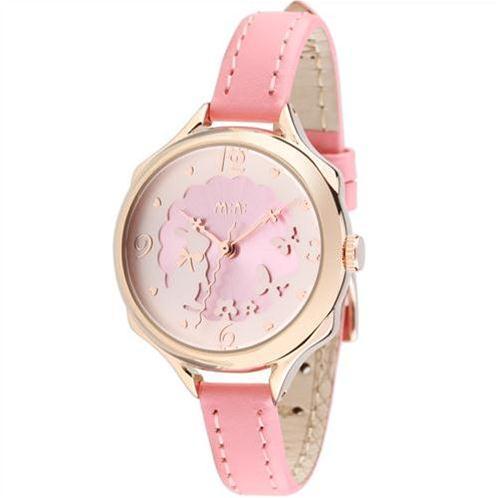 Đồng hồ Mini nữ MN989 kim giây hình sóng trang nhã
