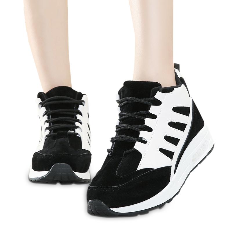 Sneaker nữ da lộn tăng chiều cao Wadnaso