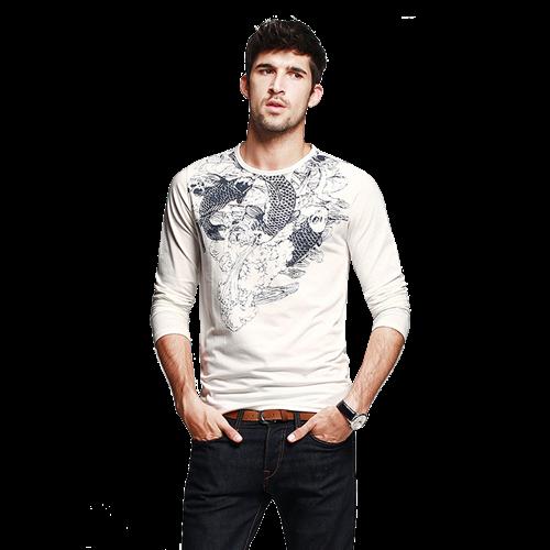 Áo thun nam dài tay K-Jeans MT-9913 Họa tiết trẻ trung