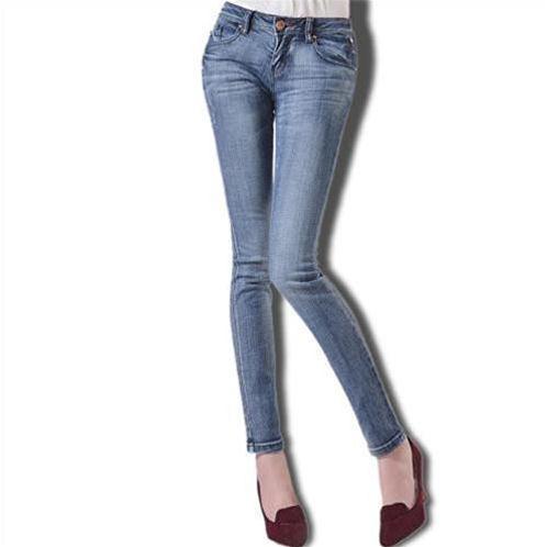 Jeans nữ mài sáng ống côn Bulkish