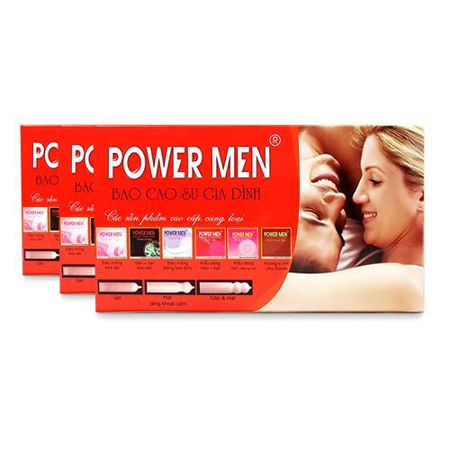 Combo 3 hộp Bao cao su gia đình Power Men