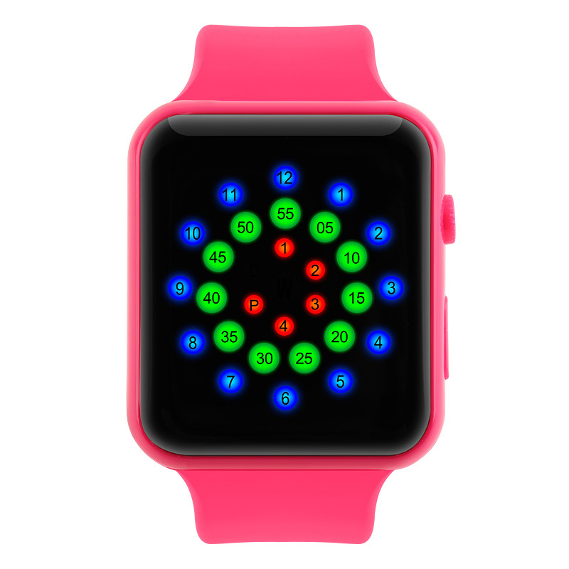 Đồng hồ điện tử Skmei Unisex mặt vòng cung đa sắc màu