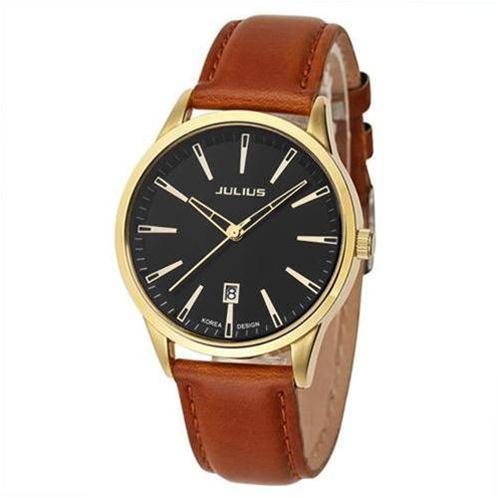 Đồng hồ nam dây da Julius  JA-372 - đồng hồ Hàn Quốc