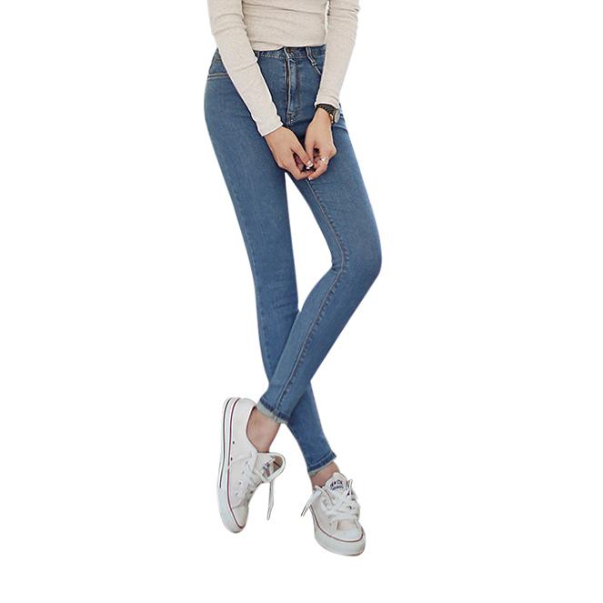 Skinny jeans cạp cao sáng màu Goditkiss