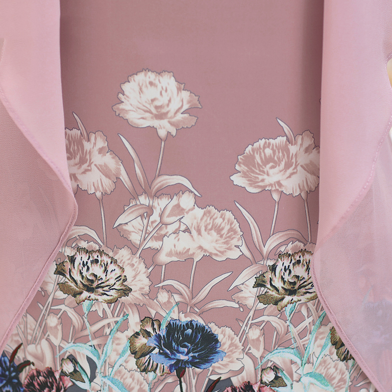 Đầm voan cánh bướm in hoa SMT