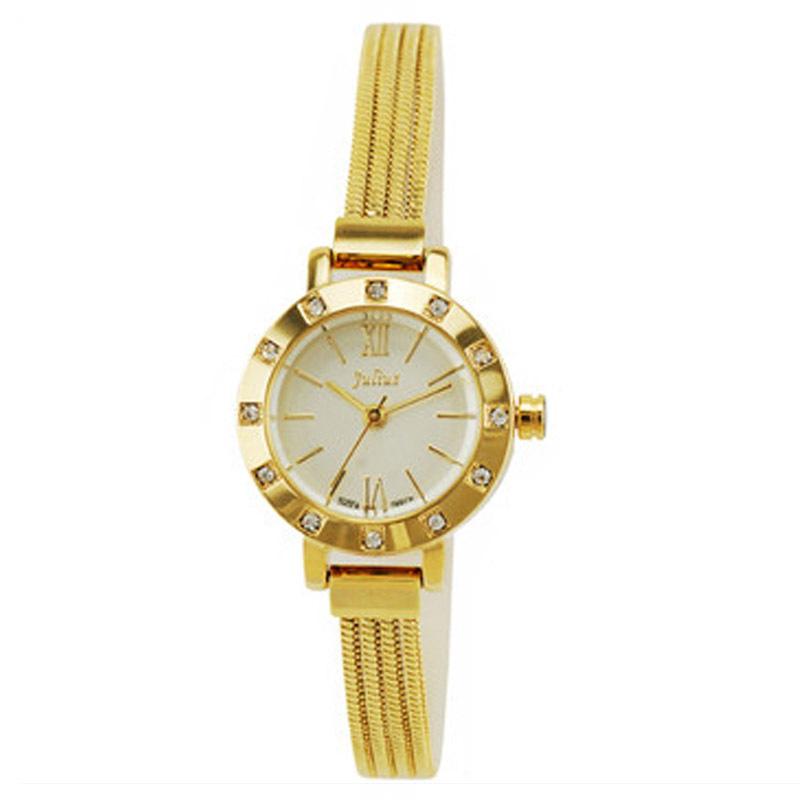 Đồng hồ lắc tay nữ Julius mặt tròn dây mảnh