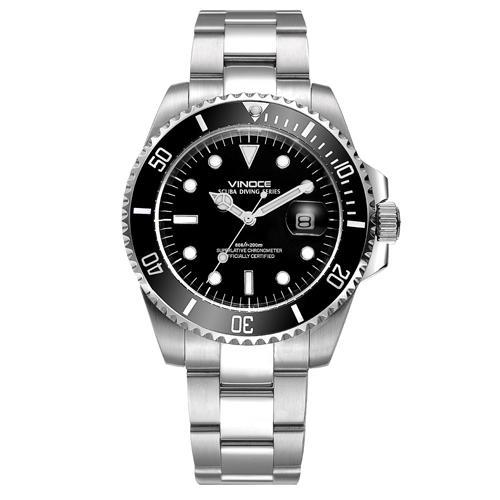 Đồng hồ nam viền khắc số, chống nước hoàn hảo Vinoce 6332222