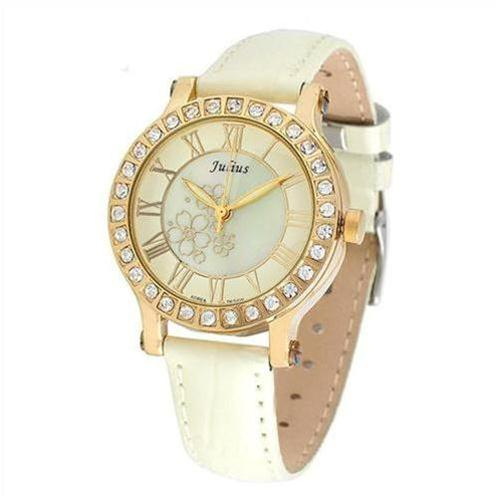 Đồng hồ nữ Hàn Quốc Julius JA486 nạm vân hoa