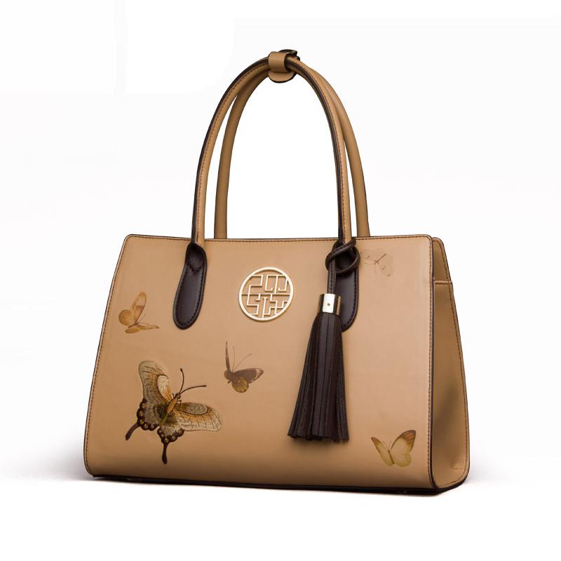 Túi satchel thêu hình bướm PMSIX