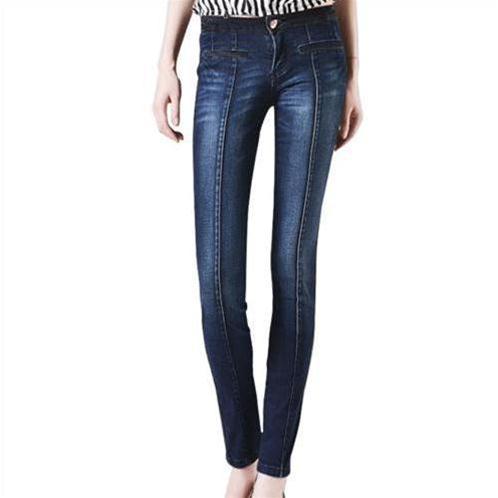 Quần Jeans nữ Bulkish cạp trễ ống côn