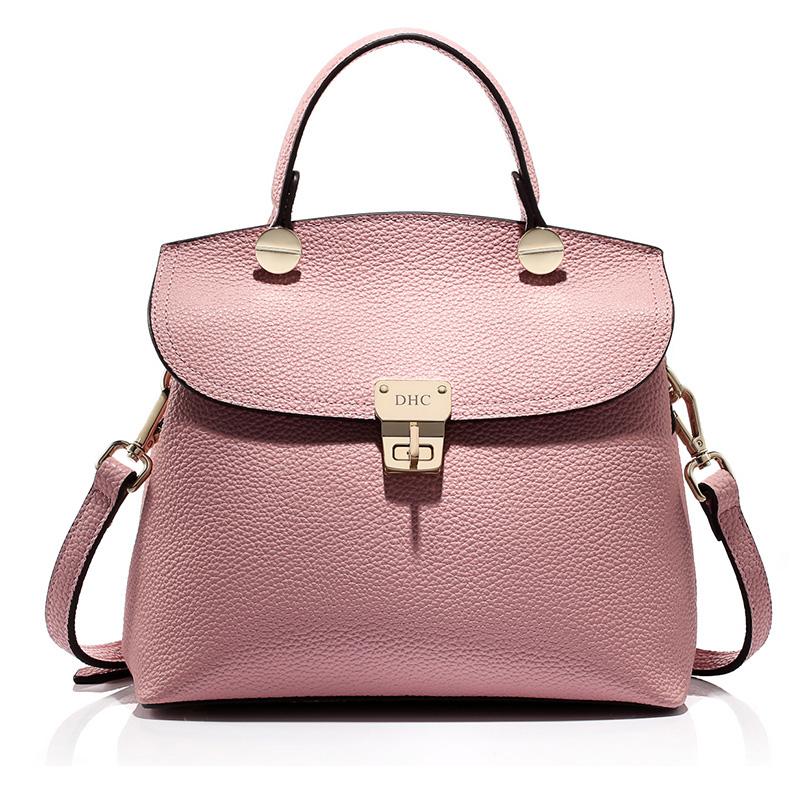 Túi xách satchel DHC khóa xoay