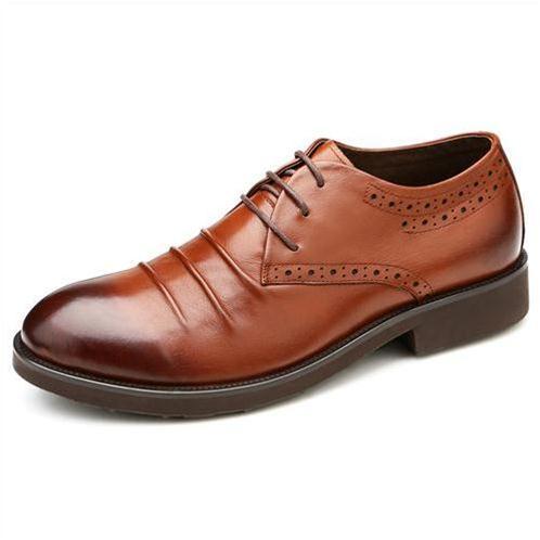 Giày da nam Olunpo QDT1405 mặt tạo nếp nhăn